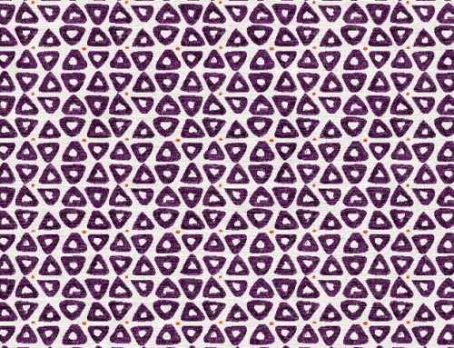 SylvieAndMira TriDot Purple Rug