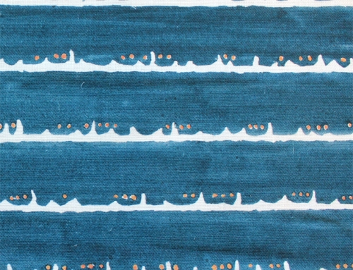 SylvieAndMira Deckle Dot Blue Fabric