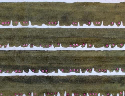 SylvieAndMira Deckle Dot Green Fabric