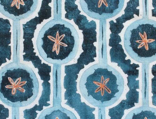 SylvieAndMira Leap Blue Fabric