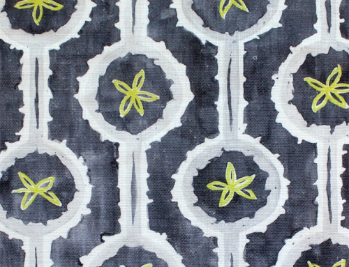 SylvieAndMira Leap Grey Fabric