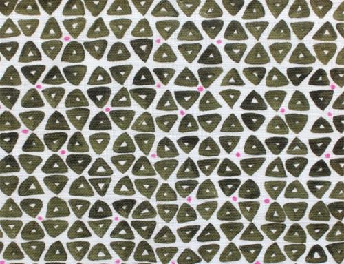 SylvieAndMira TriDot Green Fabric
