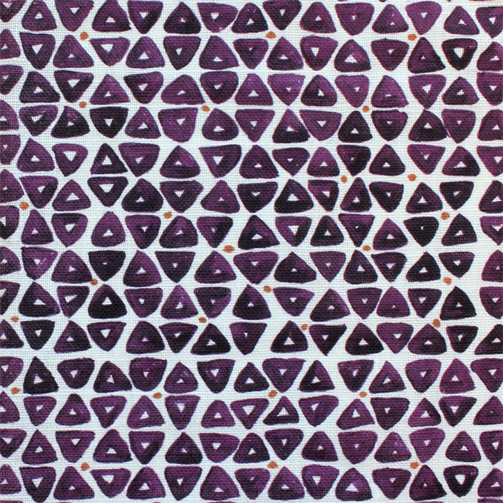 Sylvie&Mira Fabric TriDot Purple