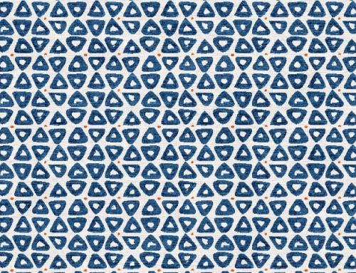 SylvieAndMira TriDot Blue Rug