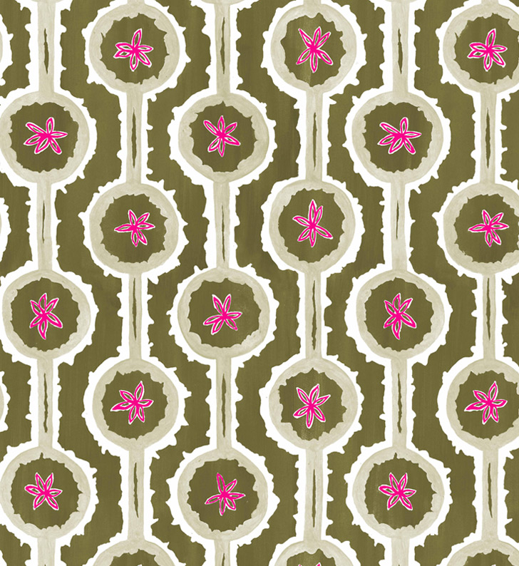 Sylvie&Mira Wallcovering Leap Green
