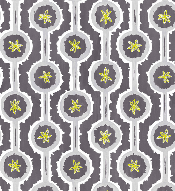 Sylvie&Mira Wallcovering Leap Grey
