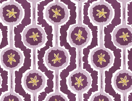 SylvieAndMira Leap Purple Wallcovering