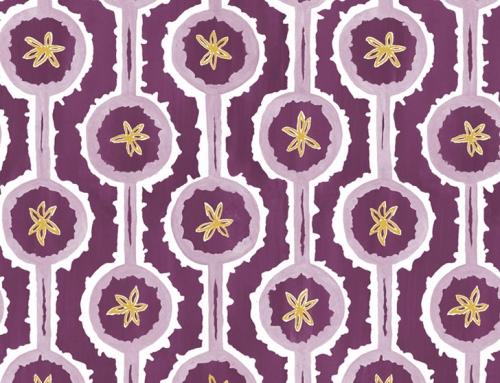 SylvieAndMira Leap Purple Wallcovering