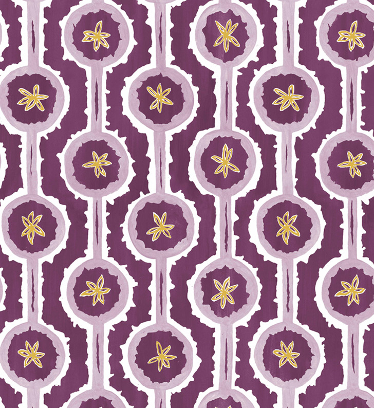 Sylvie&Mira Wallcovering Leap Purple