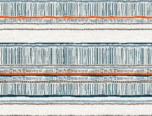 SylvieAndMira Savannah Stripe Chocolate / Blue / Orange Rug
