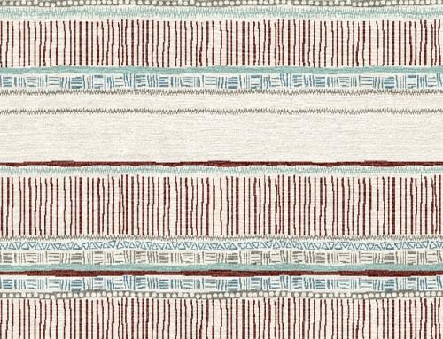 SylvieAndMira Savannah Stripe Terracotta / Sage Rug