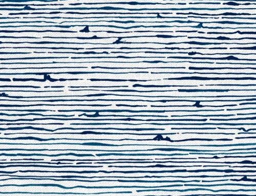 SylvieAndMira Birches Ocean Fabric
