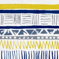 Savannah Fabric Navy Slate Yellow