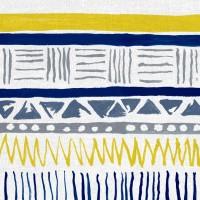 Savannah Fabric Navy Slate Yellow