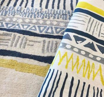 Sylvie&Mira Savannah Stripe Rug and Fabric