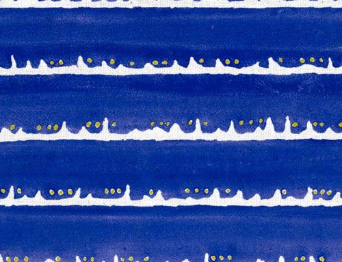 SylvieAndMira Deckle Dot Cobalt Fabric