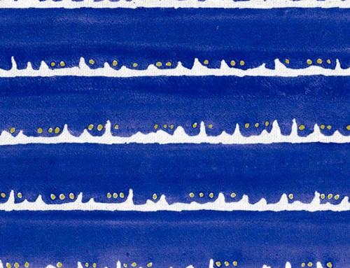 SylvieAndMira Deckle Dot Cobalt Fabric