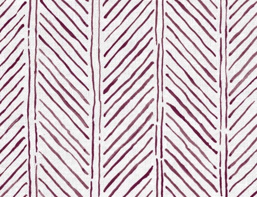SylvieAndMira John's Feather Aubergine Fabric