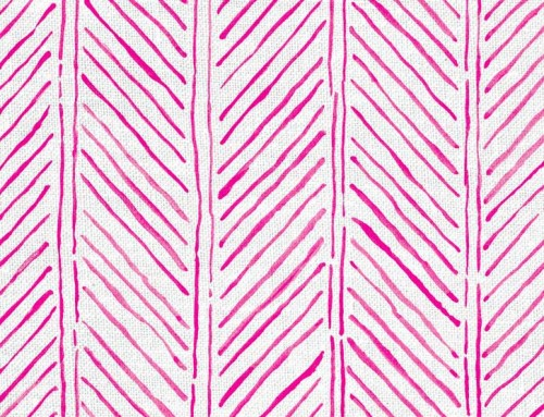 SylvieAndMira John's Feather Hot Pink Fabric