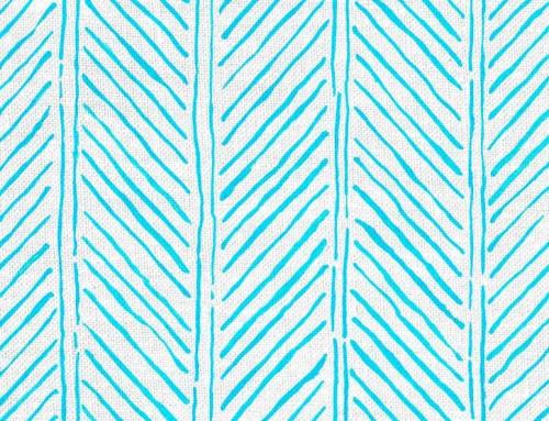 SylvieAndMira John's Feather LiLu Blue Fabric