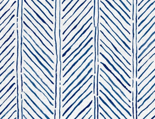 SylvieAndMira John's Feather Navy Fabric