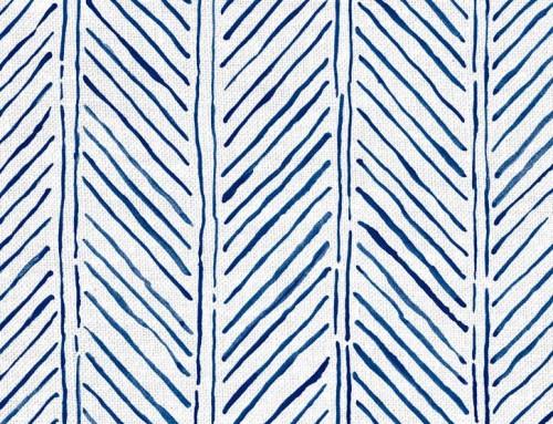 SylvieAndMira John's Feather Navy Fabric