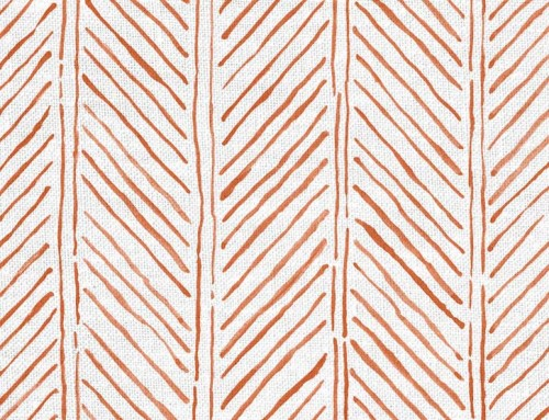 SylvieAndMira John's Feather Tangerine Fabric