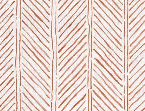 SylvieAndMira John's Feather Tangerine Fabric