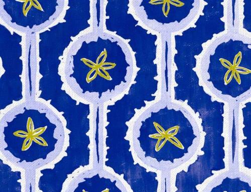 SylvieAndMira Leap Cobalt Fabric