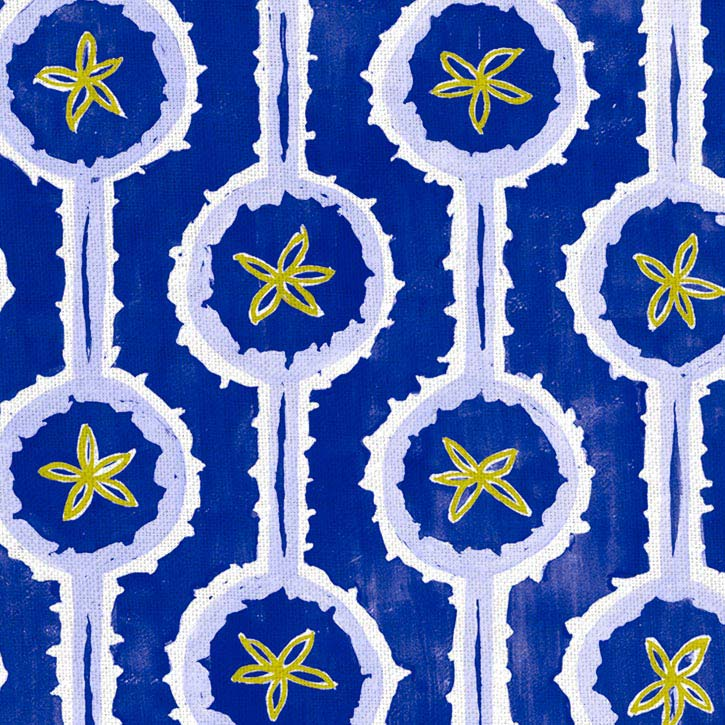 Leap Fabric Cobalt