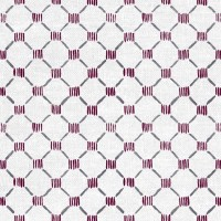 Stitches Fabric Aubergine