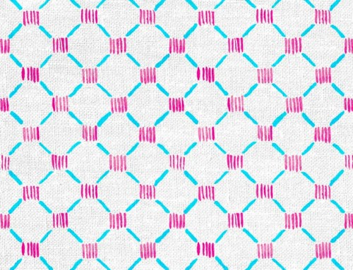 SylvieAndMira Stitches LiLu Blue Fabric