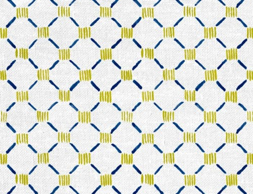 SylvieAndMira Stitches Navy Fabric Designer Fabric to the Trade