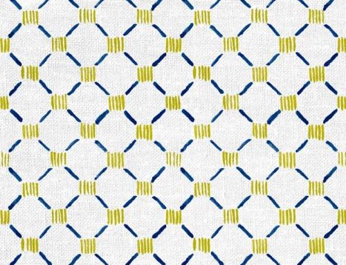 SylvieAndMira Stitches Navy Fabric Designer Fabric to the Trade