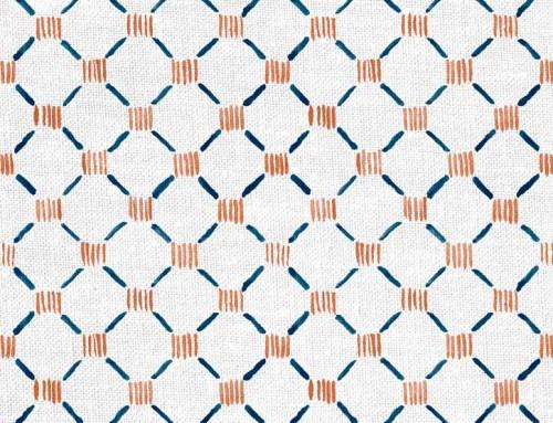 SylvieAndMira Stitches Ocean Fabric