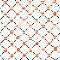 Stitches Orange Blue Rug