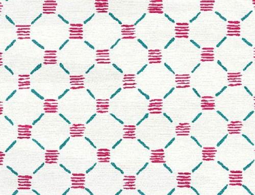 SylvieAndMira Stitches Pink Teal Rug