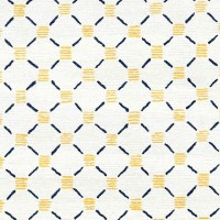 Stitches Yellow Navy Rug